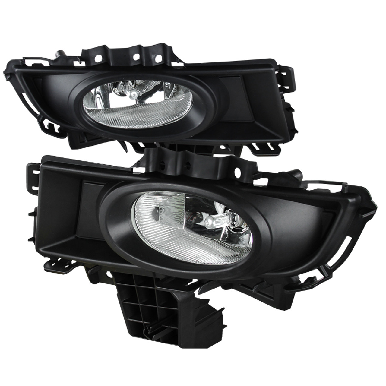 Fog Lights H11 12V 55W Lamp Bulb Fit For 2007-2009 Mazda 3 Front Left Bumper Driving Lamps With Switch Clear Lens