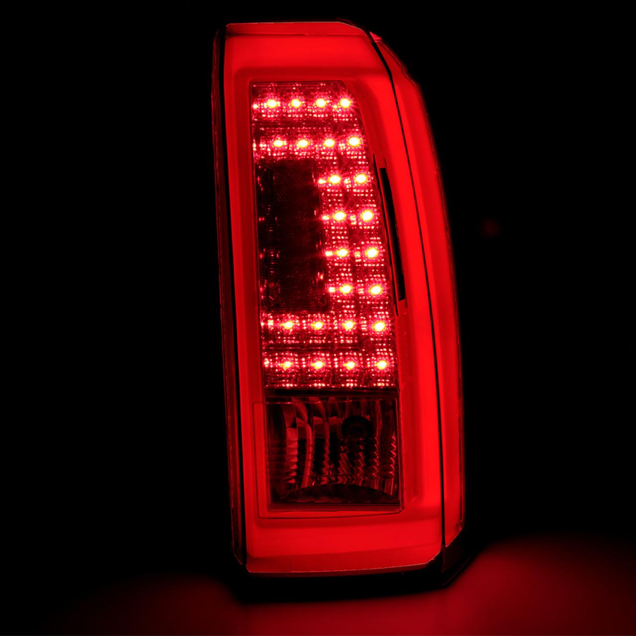 2015 2018 Gmc Yukon Yukon Xl Denali Sle Slt Led Tail Lights Chrome Housing Red Smoke Lens Spec D Tuning