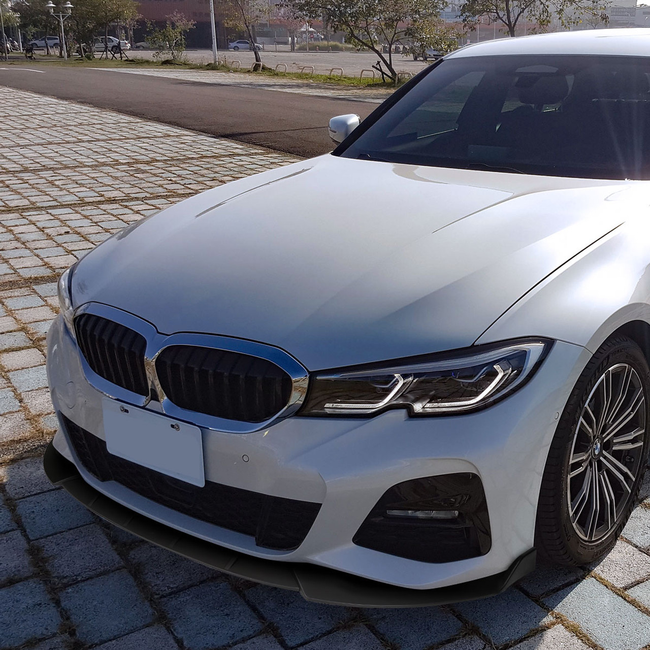 2019 2020 Bmw 3 Series G20 M Sport M340i Matte Black Polypropylene 3pc Bumper Lip Spec D Tuning