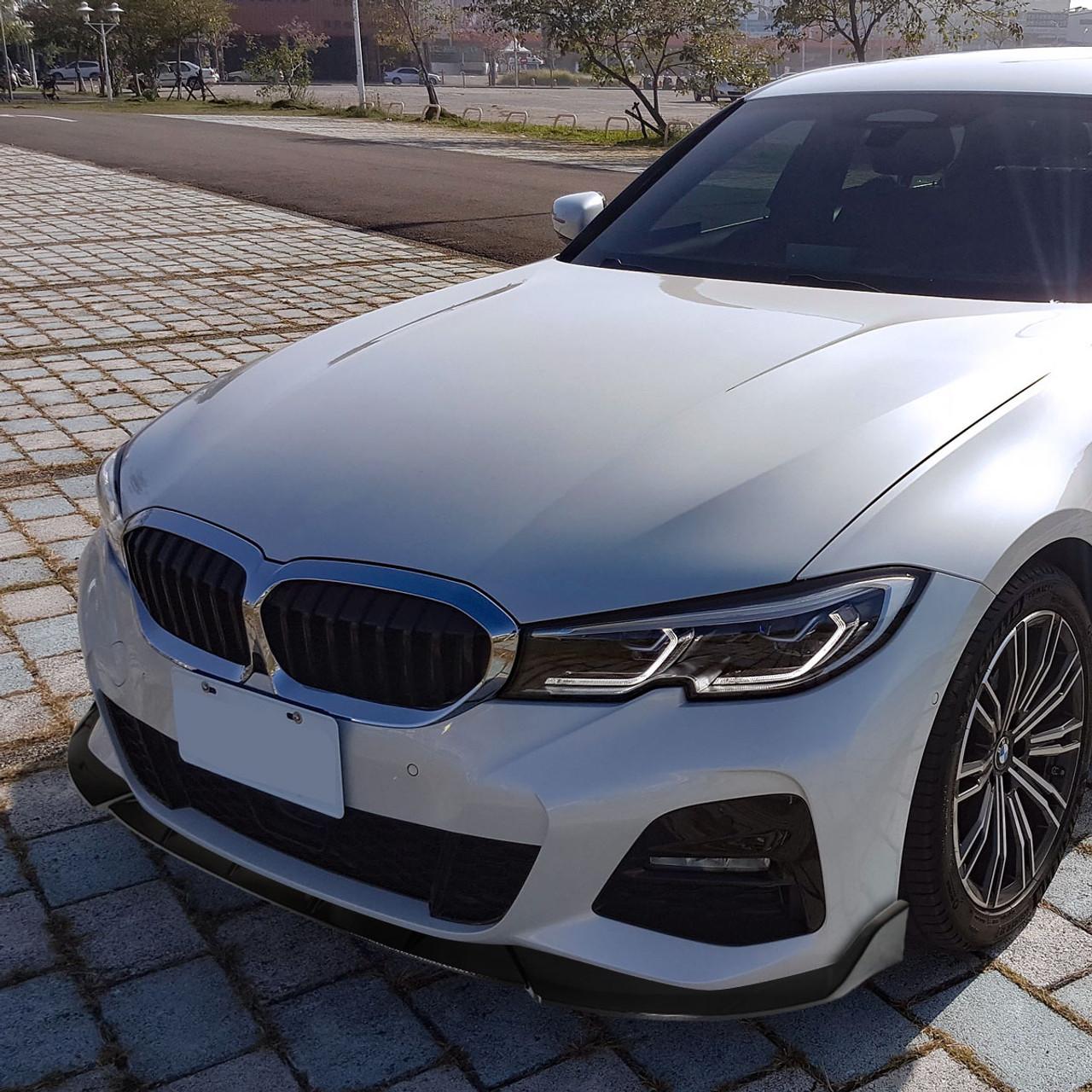 2019 2020 Bmw 3 Series G20 M Sport M340i 3pc Front Bumper Lip Glossy Black Spec D Tuning