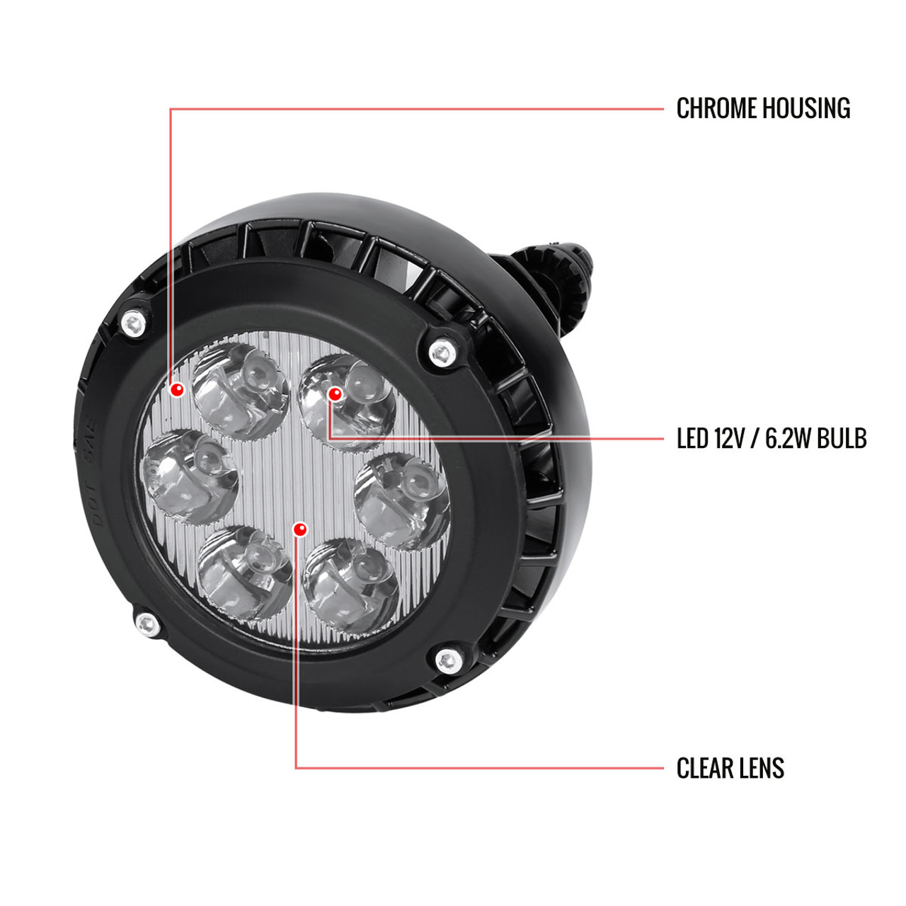 For 2007-2014 GMC Yukon Denali Clear Lens Fog Driving Lights LED OEM Replacement
