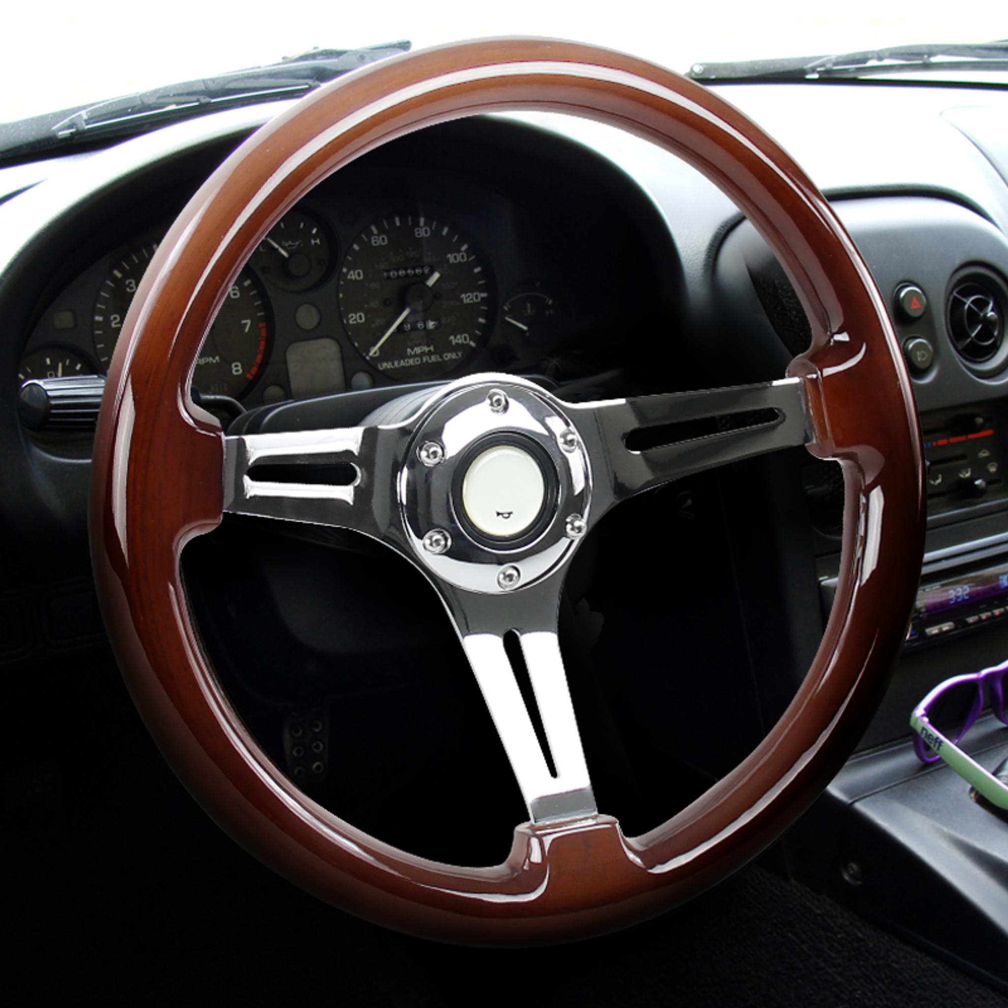 350Mm Wooden Spec-D Tuning SW-112-W-SD Steering Wheel