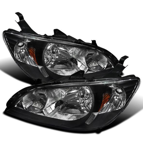 2004-2005 Honda Civic Crystal Headlights (Matte Black Housing/Clear Lens)