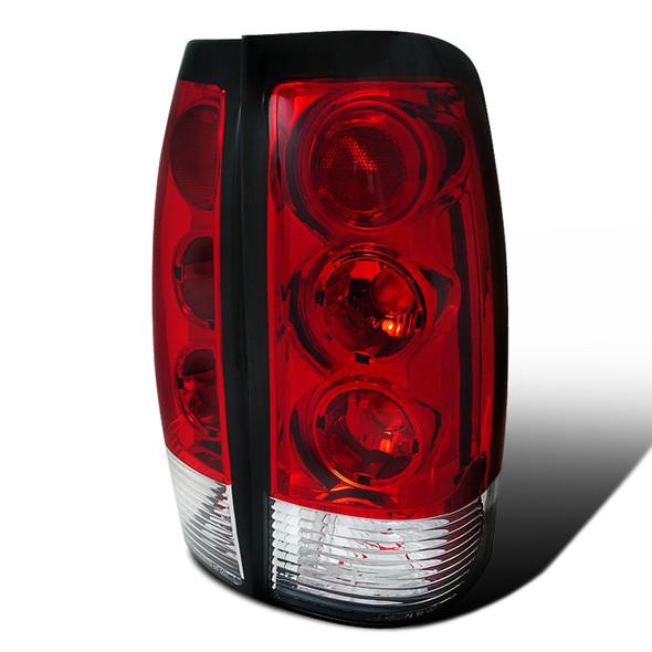 1999-2002 Chevrolet Silverado/ 1999-2003 GMC Sierra Tail Lights - APC (Chrome Housing/Red Lens)