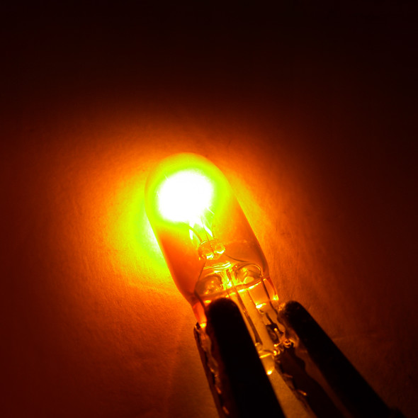 T10 Chrome Amber Light Bulbs