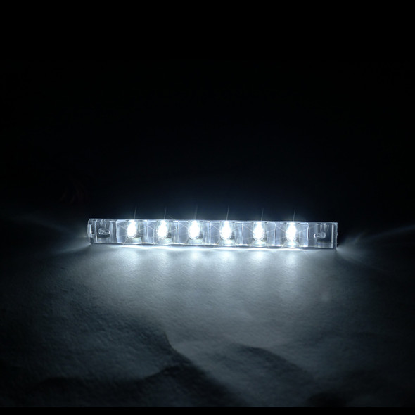 Universal 6 LED Daytime Running Lights (Chrome Housing/Clear Lens)