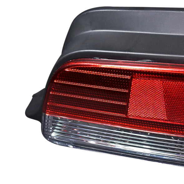 1997-2001 Honda Prelude Tail Lights (Chrome Housing/Red Clear Lens)