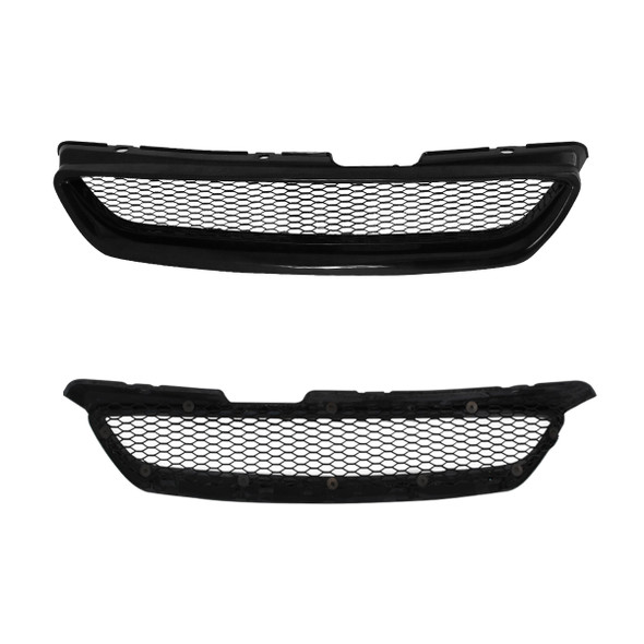1998-2002 Honda Accord TR Style Black ABS Mesh Grille