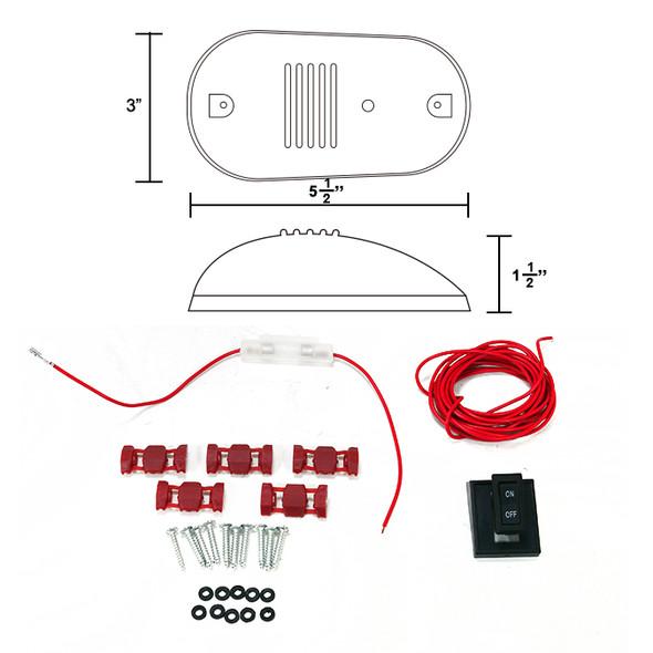 Universal 5PC Set Roof Cab Amber LED Lights (Black Housing/Smoke Lens)