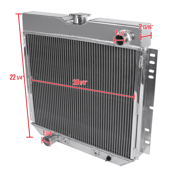1963-1969 Ford Aluminum 3-Row Cooling Radiator