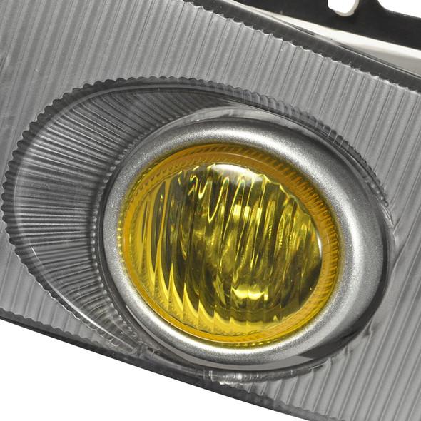 1992-1995 Honda Civic Coupe/Hatchback H3 Fog Lights Kit (Chrome Housing/Yellow Lens)
