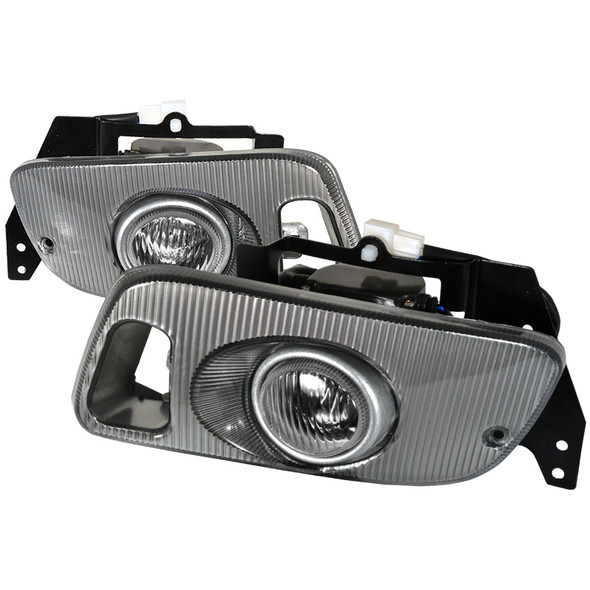 1992-1995 Honda Civic Coupe/Hatchback H3 Fog Lights Kit (Chrome Housing/Clear Lens)