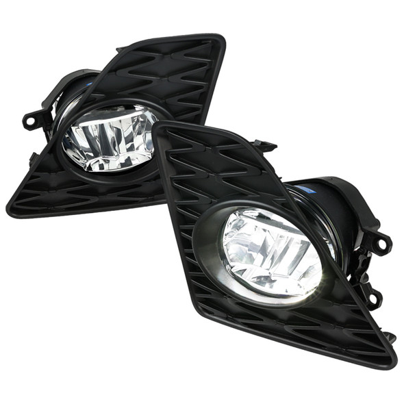 2013-2015 Lexus GS350 F-Sport 6500K LED Fog Lights Kit (Chrome Housing/Clear Lens)