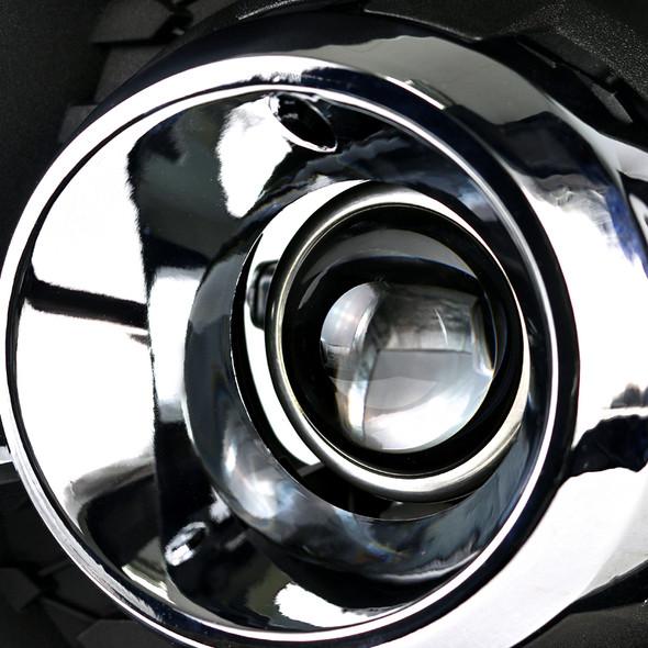 2010-2016 Chevrolet Equinox L/LT/LTZ/LS H11 Projector Fog Lights Kit (Chrome Housing/Clear Lens)