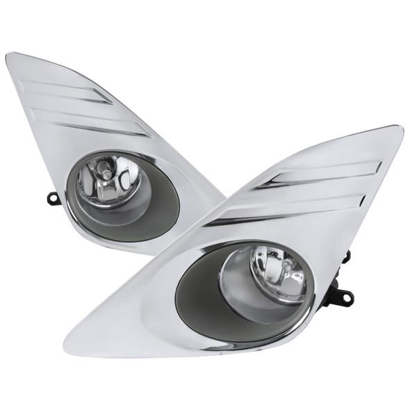 2012-2014 Toyota Camry H11 Fog Lights Kit (Chrome Housing/Clear Lens)