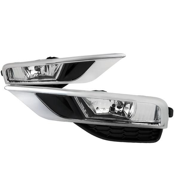 2015-2016 Honda CR-V 12V/35W H8 Fog Lights Kit (Chrome Housing/Clear Lens)
