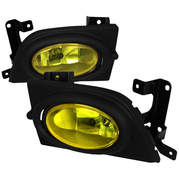 2006-2008 Honda Civic Sedan H11 Fog Lights Kit (Chrome Housing/Yellow Lens)