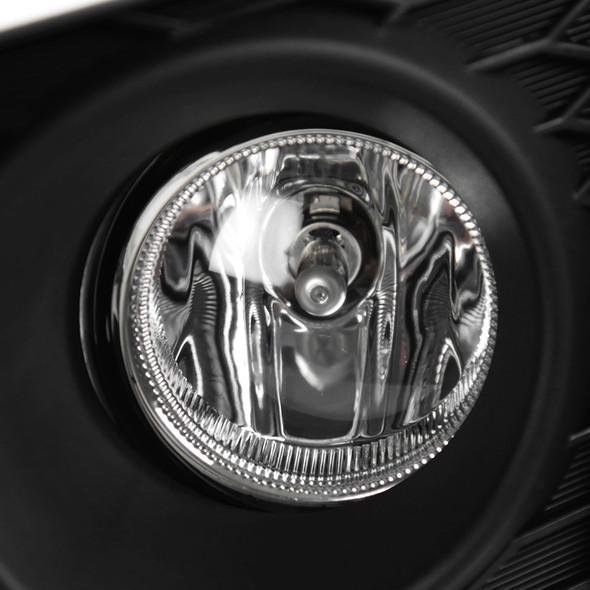 2015-2017 Honda Fit 12V/55W H11 Fog Lights Kit (Chrome Housing/Clear Lens)