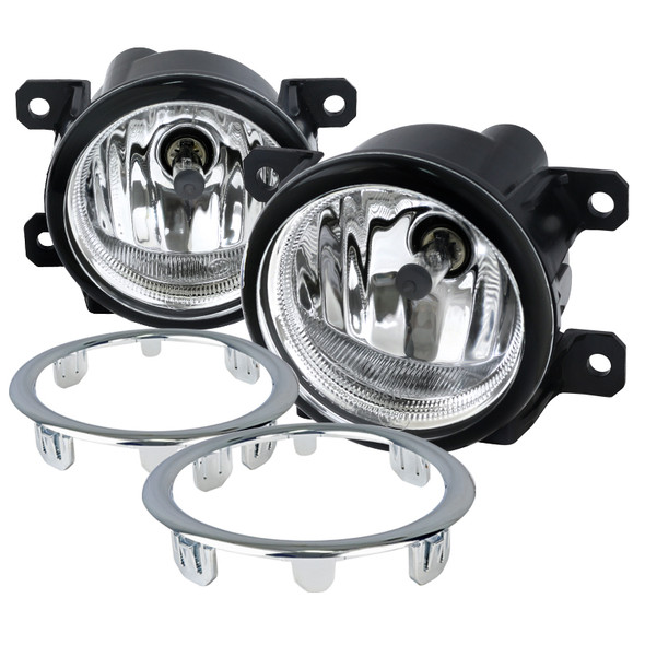 2012-2015 Honda Pilot 2500K H8 Fog Lights Kit (Chrome Housing/Clear Lens0