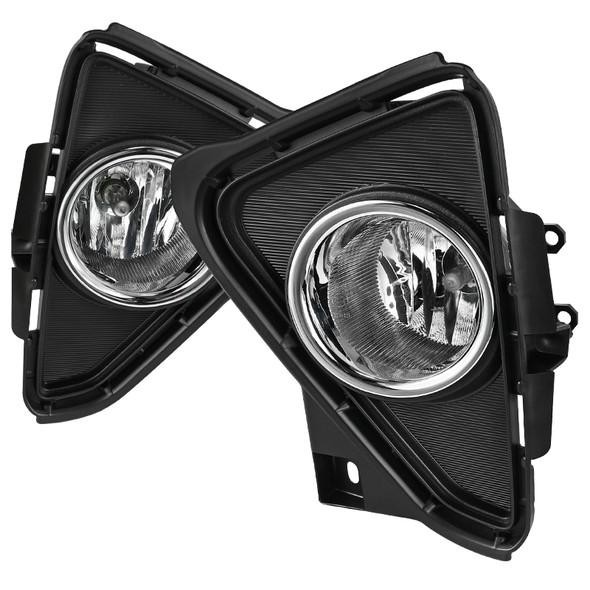2016-2018 Toyota RAV4 H16 Fog Lights Kit (Chrome Housing/Clear Lens)