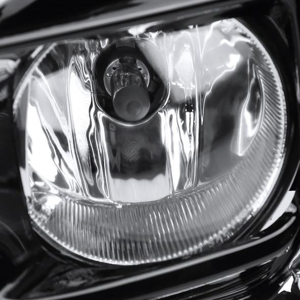 2018-2019 Toyota Sienna 12V/55W H11 Fog Lights Kit (Chrome Housing/Clear Lens)