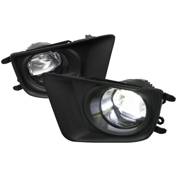 2012-2015 Toyota Tacoma SMD LED Projector Fog Lights Kit (Chrome Housing/Clear Lens0