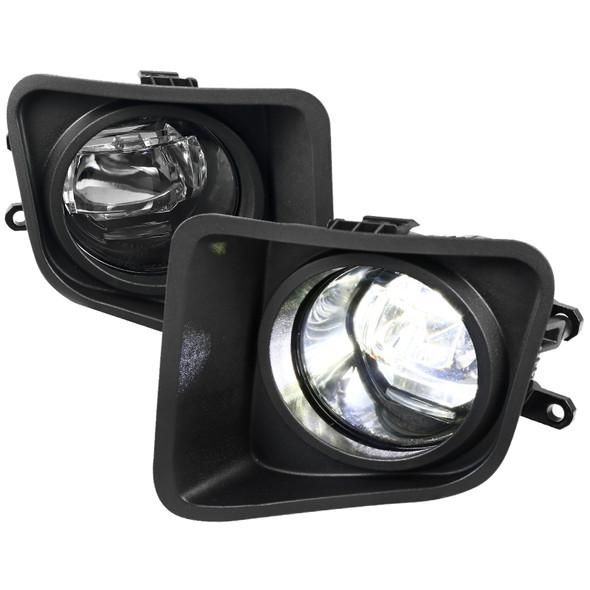 2014-2018 Toyota Tundra SMD LED Projector Fog Lights Kit (Chrome Housing/Clear Lens)