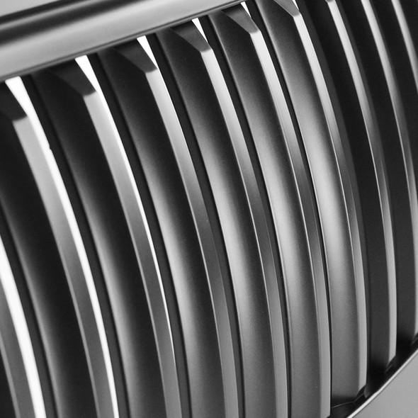 1999-2002 Chevrolet Silverado Matte Black ABS Vertical Grille