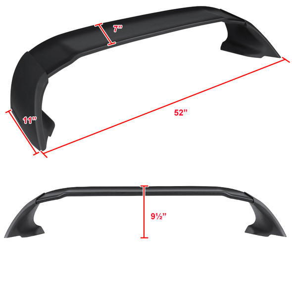 2006-2011 Honda Civic 4DR Sedan Black ABS MG Style Rear Spoiler Wing