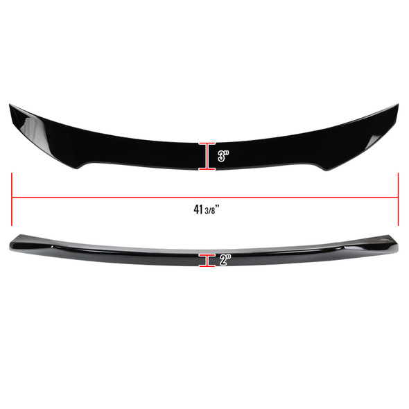 2016-2019 Honda Civic Hatchback Glossy Black ABS Rear Spoiler