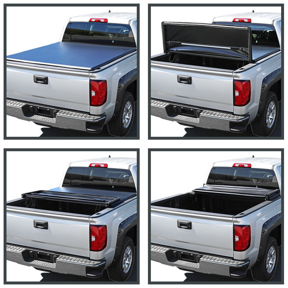 """2002-2018 Dodge RAM / 2019-2021 RAM 1500 Classic 78"""" (6.4') Bed Tri-Fold Tonneau Cover"""