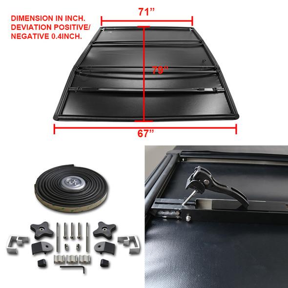 2002-2018 Dodge RAM 1500/2500/3500 6.5' Bed Tri-Fold Tonneau Cover
