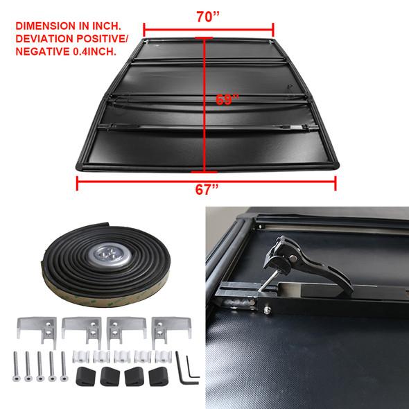 2009-2019 Dodge RAM 1500/2500/3500 5.8' Short Bed Tri-Fold Tonneau Cover