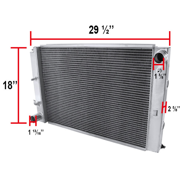 1997-2004 Ford Mustang Aluminum 2-Row Performance Cooling Radiator