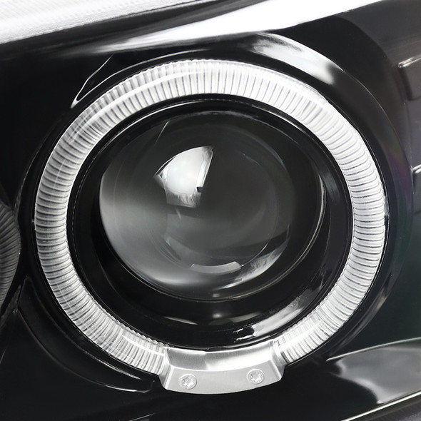 2001-2006 GMC Yukon + XL Denali/ 2002-2006 GMC Sierra Denali Dual Halo Projector Headlights w/ Bumper Lights (Jet Black Housing/Clear Lens)