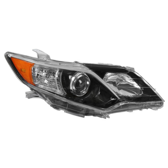 2012-2014 Toyota Camry Clear Lens Projector Headlight w/ Amber Reflector - Passenger Side Only