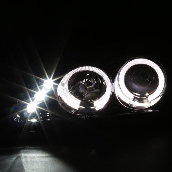 1992-1995 Honda Civic Dual Halo Projector Headlights (Glossy Black Housing/Smoke Lens)