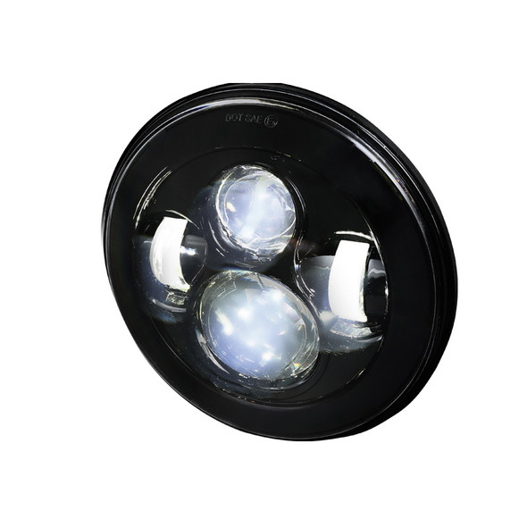 """Universal 7"""" Cree LED Projector Headlight - 1PC (Matte Black Housing/Clear Lens)"""