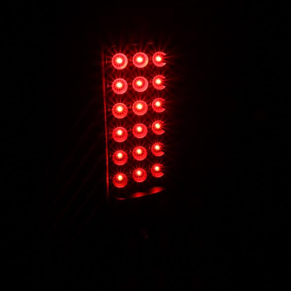 1999-2002 Chevrolet Silverado/ 1999-2003 GMC Sierra V2 LED Tail Lights (Matte Black Housing/Clear Lens)