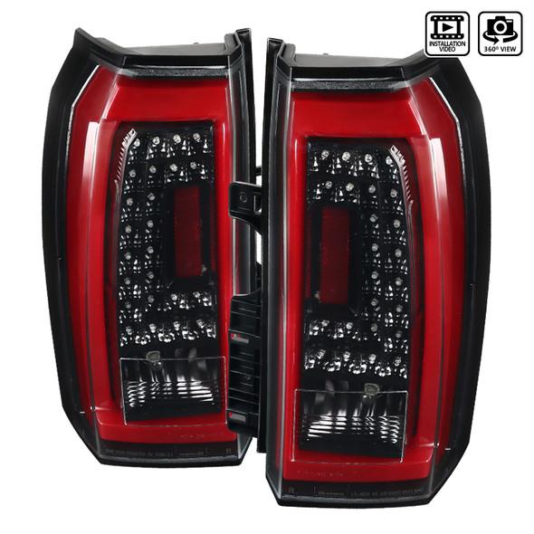 2015-2020 Chevrolet Tahoe/Suburban LS LT LTZ Premier LED Tail Lights (Jet Black Housing/Clear Lens)