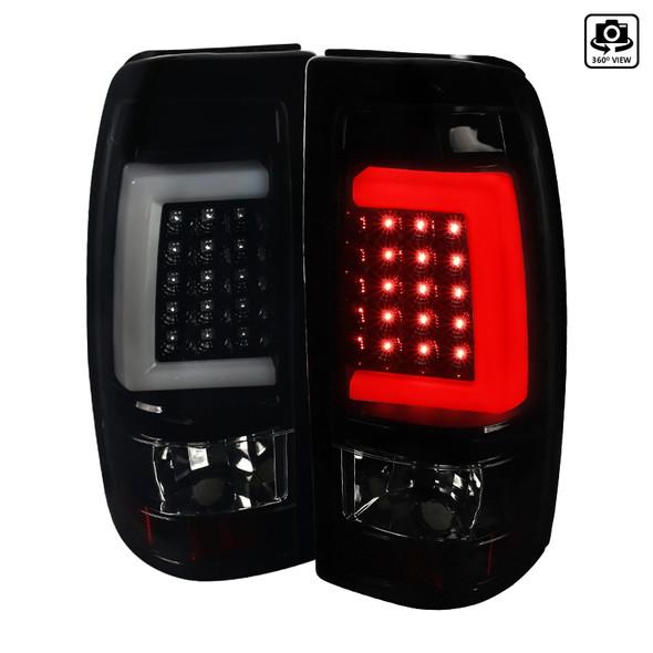 1999-2002 Chevrolet Silverado/ 1999-2003 GMC Sierra LED Tail Lights - G2 (Glossy Black Housing/Smoke Lens)