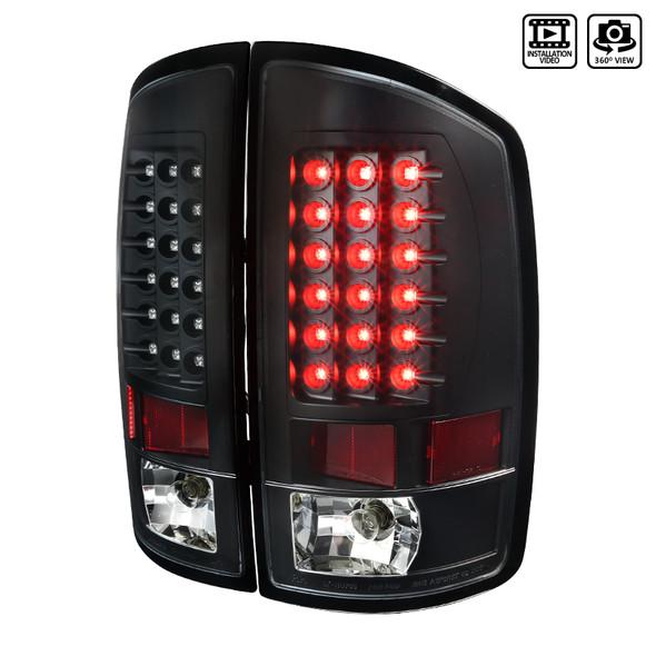 2002-2006 Dodge RAM V2 LED Tail Lights (Matte Black Housing/Clear Lens)