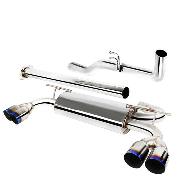 2009-2014 Hyundai Genesis Coupe 2.0T T-304 Stainless Steel Catback Exhaust System w/ Burnt Tip
