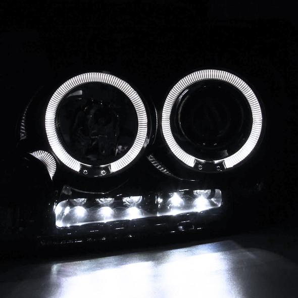 2004-2008 Ford F-150/ 2006-2008 Lincoln Mark LT Dual Halo Projector Headlights (Glossy Black Housing/Smoke Lens)
