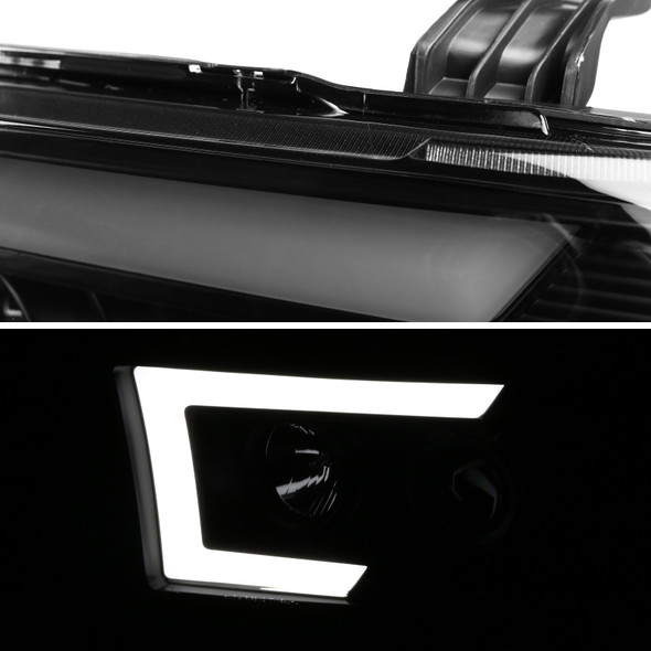 2007-2013 Toyota Tundra/ 2008-2017 Sequoia Switchback Sequential LED C-Bar Projector Headlights (Black Housing/Smoke Lens)