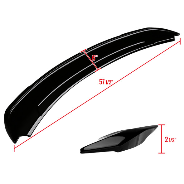 2015-2020 Ford Mustang Glossy Black ABS GT Style Rear Spoiler