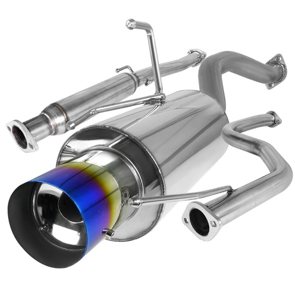 1992-2000 Honda Civic T-304 Stainless Steel N1 Style Catback Exhaust System w/ Burnt Tip