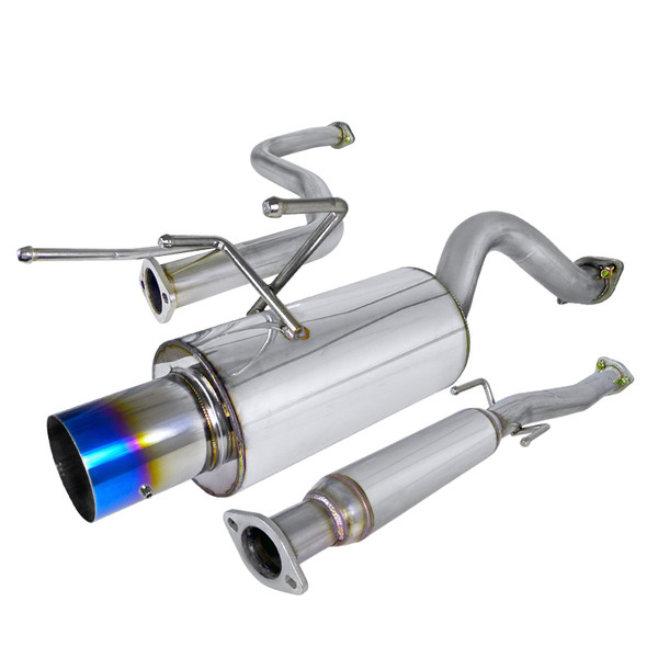 1996-2000 Honda Civic Hatchback T-304 Stainless Steel N1 Style Catback Exhaust System w/ Burnt Tip