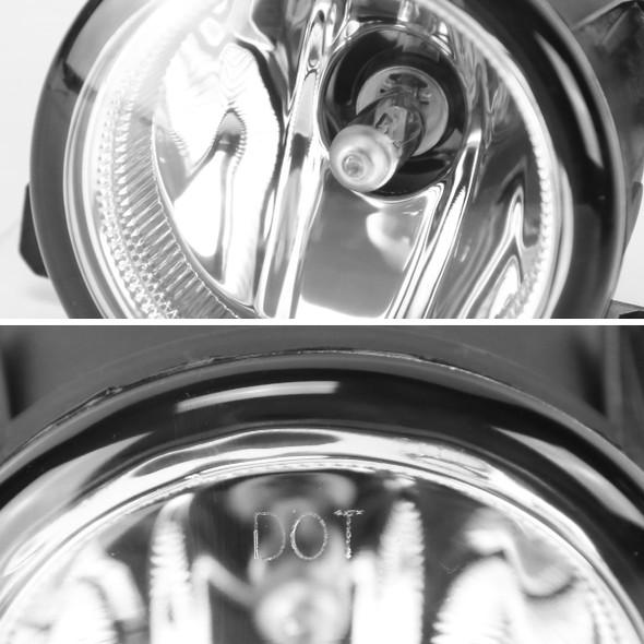 2015-2017 Honda Fit 12V/55W H11 Fog Lights w/ LED Light Strip (Chrome Housing/Clear Lens)