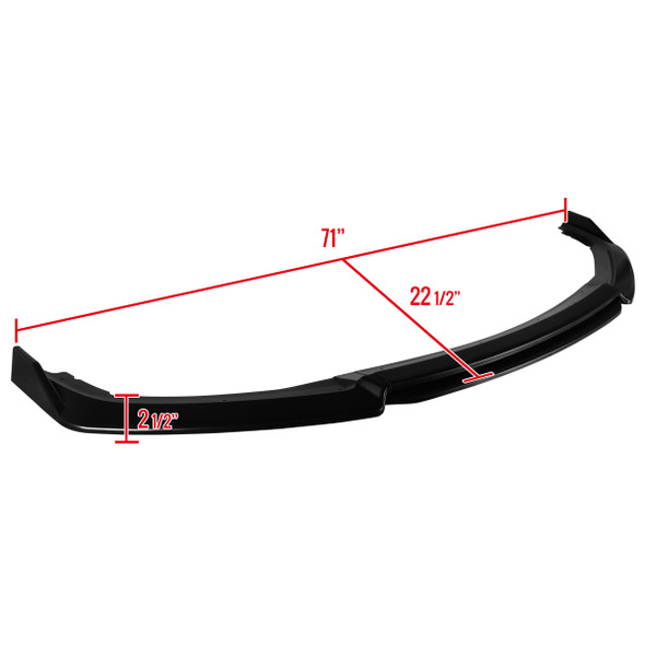 2016-2018 Honda Civic Sedan Polypropylene Bumper Lip
